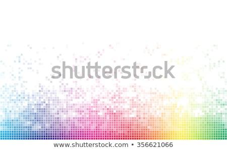 Stockfoto: Vierkante · mozaiek · licht · veelkleurig · tegel