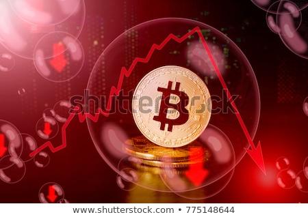Bitcoin összeomlás piac diagram tőzsde pénzügy Stock fotó © alexaldo