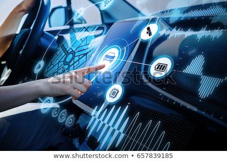 rijden · zakenman · auto · smart · technologie · iconen - stockfoto © robuart