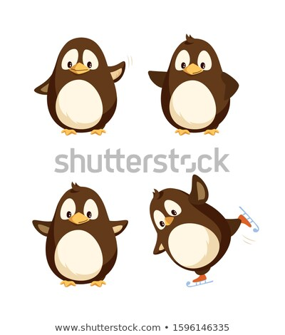 North Pole Funny Penguins Having Fun Together Stock photo © robuart