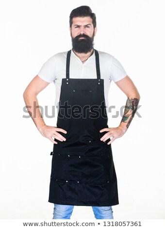 Ciddi adam şef pişirmek üniforma Stok fotoğraf © deandrobot