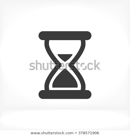 Ampulheta ícone fino linha projeto relógio Foto stock © angelp