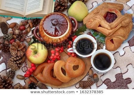 Healthy breakfast set in the park Stock photo © colematt