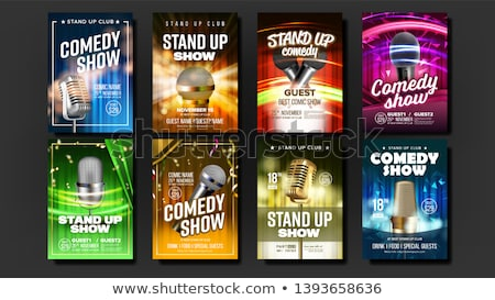 Color vintage Stand up comedy show poster Stock photo © netkov1