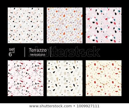 Terrazzo Flooring Seamless Patterns Set Vector Stock photo © pikepicture