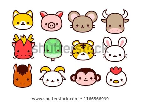 12 動物 セット ゾディアック 標識 ストックフォト © toyotoyo