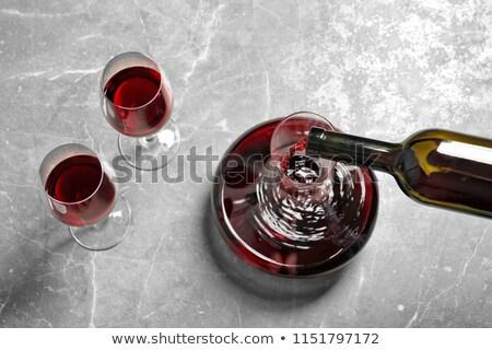 ワイングラス · 石 · 表 · 先頭 · 表示 · コピースペース - ストックフォト © karandaev