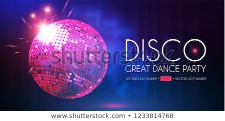 Club nocturno disco ball púrpura vector Foto stock © robuart