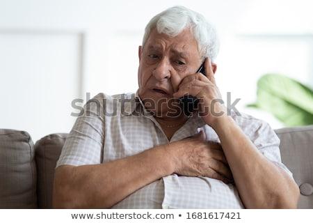 Boldogtalan férfi szenvedés szívfájdalom emberek szívbetegség Stock fotó © dolgachov