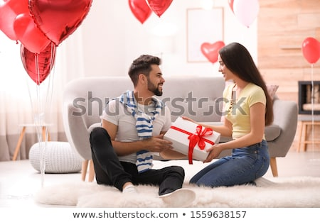 living room or home decorated for valentines day Stock photo © dolgachov