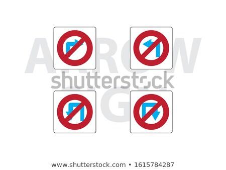 Foto stock: Placa · sinalizadora · conjunto · isolado · branco · grupo