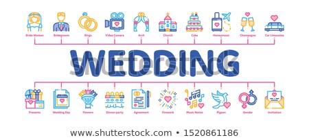 Düğün en az afiş vektör web Stok fotoğraf © pikepicture
