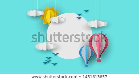 globo · de · aire · caliente · cielo · ilustración · ninos · naturaleza · diseno - foto stock © cienpies