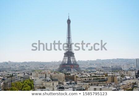 エッフェル塔 市 パリ 屋根 凱旋門 ストックフォト © sarahdoow