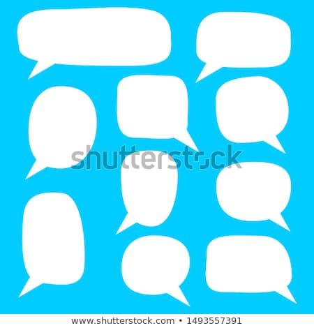 Dialog chmury zestaw działalności Internetu streszczenie Zdjęcia stock © Mark01987