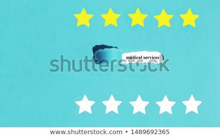 Word Results Blue Ripped Paper Concept Stock photo © ivelin