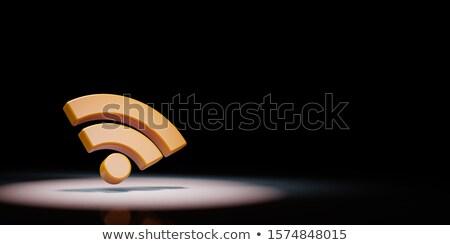 Rss feed symbol czarny pomarańczowy kopia przestrzeń Zdjęcia stock © make