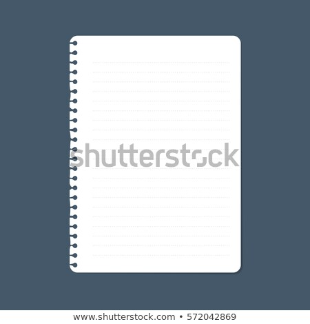 Notebook page set, notepad lined and dots paper. Lined notepaper texture. Vector Stock photo © Andrei_