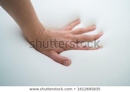 Ricordo schiuma materasso mano timbro Foto d'archivio © AndreyPopov