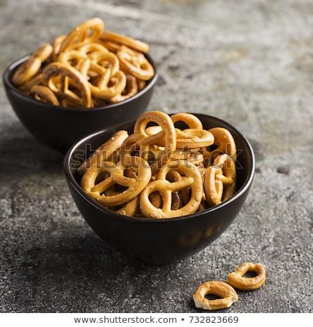 Gezouten zoute krakelingen top klassiek snack Stockfoto © grafvision