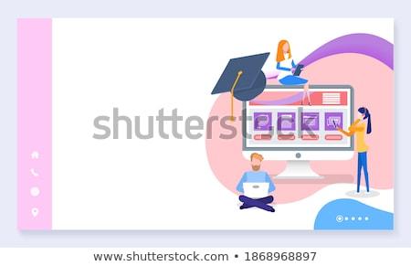 Best studie laptop onderwijs studenten mensen die Stockfoto © robuart
