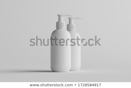 Plastic Clean White Bottle With Dispenser Pump Stock photo © netkov1