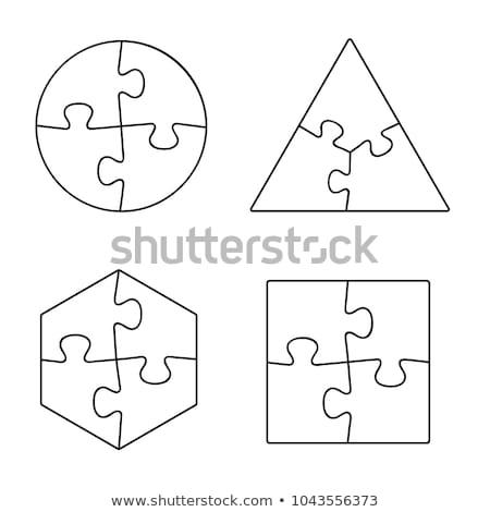 triangle complete the puzzle Stock photo © Olena