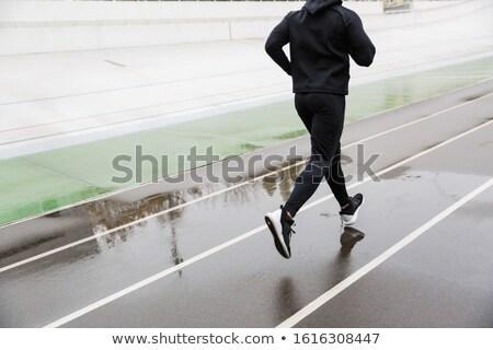 фото спортивный сильный спортсмен работает Сток-фото © deandrobot