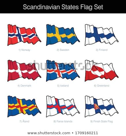 Vlag ingesteld vlaggen Noorwegen Zweden Stockfoto © nazlisart
