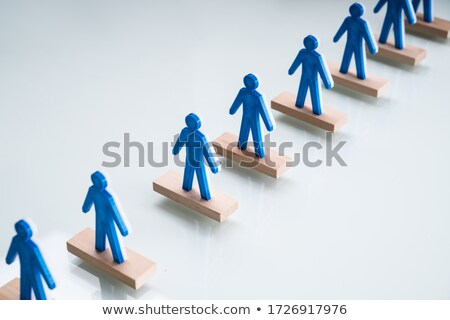 Pawns In Queue With Social Distancing Stock photo © AndreyPopov