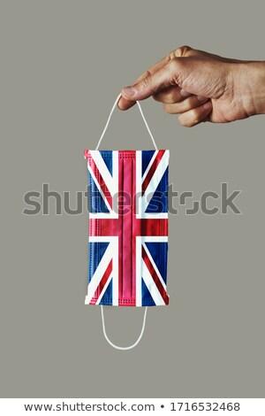 Maske bayrak Büyük Britanya adam Stok fotoğraf © nito