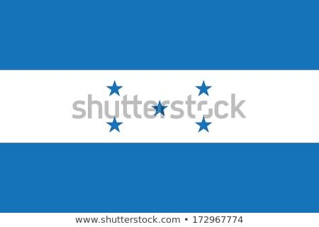 Honduras zászló fehér terv hullám szalag Stock fotó © butenkow