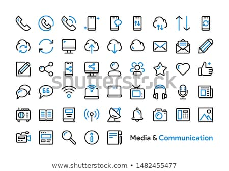 vector smart phone social media icons stock photo © marish