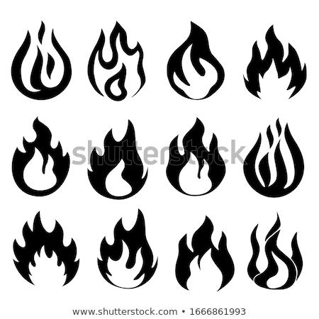 Pericoloso fiamma effettivo fuoco texture dettaglio Foto d'archivio © fyletto