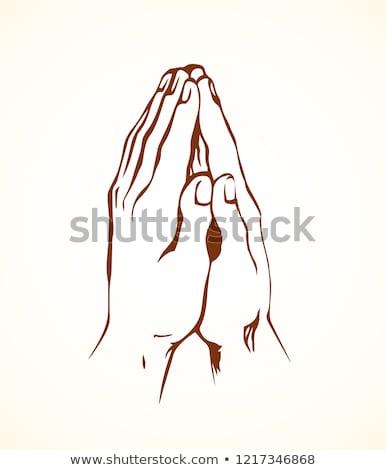 Keresztény szerzetes ikon vektor skicc illusztráció Stock fotó © pikepicture