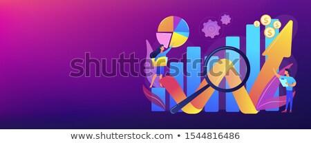Versenyképes elemzés szalag fejléc üzlet fejlesztés Stock fotó © RAStudio