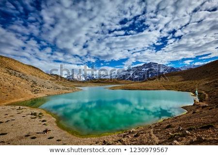 Tó völgy India Himalája felhők tájkép Stock fotó © dmitry_rukhlenko