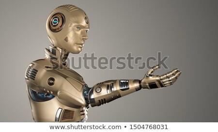 Humanoid Robot Hand Human Brain Stock photo © limbi007