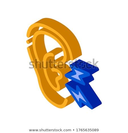 Earache isometric icon vector illustration Stock photo © pikepicture