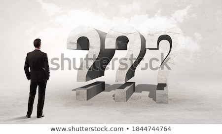 Achteraanzicht zakenman permanente afkorting groot aandacht Stockfoto © ra2studio