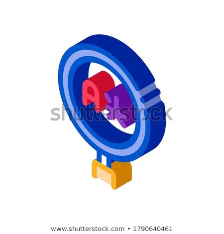 Investigación extranjero idioma icono vector Foto stock © pikepicture