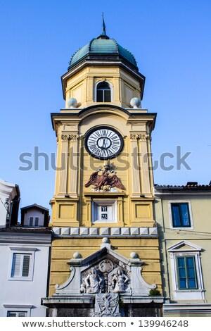 Barroco ciudad reloj torre Croacia casa Foto stock © vladacanon