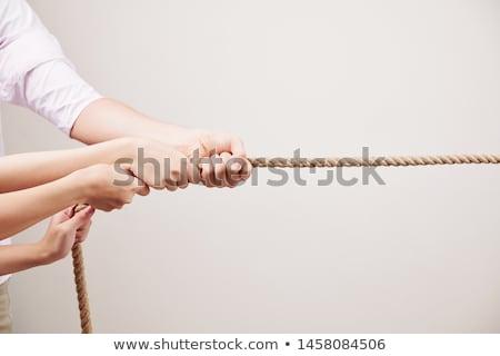 作業 チーム 立って ロープ 孤立した 白 ストックフォト © Ansonstock