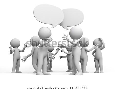 grupy · 3D · spotkanie · odizolowany · biały - zdjęcia stock © dacasdo