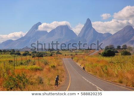 Мозамбик шоссе знак зеленый облаке улице знак Сток-фото © kbuntu
