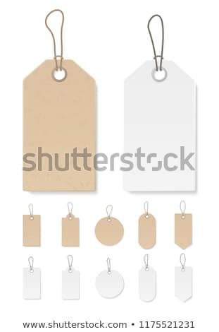 Tag bord carton ruban chaîne prix Photo stock © farres