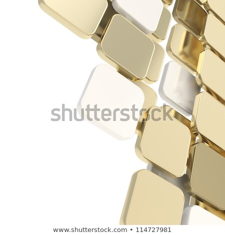 Gouden 3D futuristische plaat abstractie ontwerp Stockfoto © FransysMaslo