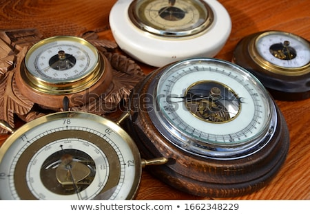 Wooden rudder with barometer  Stock photo © premiere