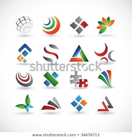 various colorful abstract icons set 16 stock photo © cidepix
