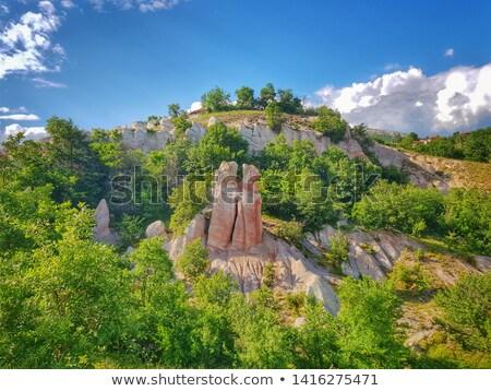Natuurlijke fenomeen bruiloft aarde piramides 40 Stockfoto © elly_l